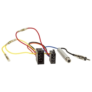 Radio-Adapterkabel ISO-ISO VW-Audi Strom Klemme 15/30 gedr. / incl. Phantomeinspeisung DIN