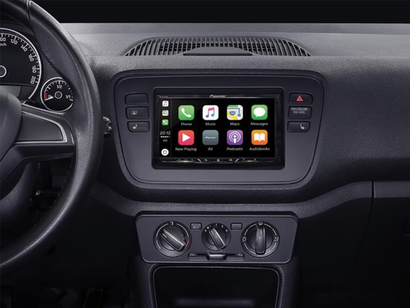 für VW up Auto Radio Blende Montage Einbau Rahmen Doppel-DIN 2-DIN schwarz
